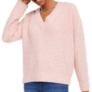 Hippie rose light pink vneck sweater